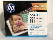 Hp 564 Combo Pack Cyan Magenta Yellow Photo Ink Value Pack Paper Expired 2017