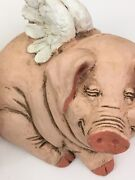 Flying Pig Collectible Telle M. Stein Figurine And Piggy Bank