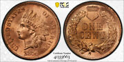 1876 1c Indian Head Cent Pcgs Ms 65 Rd Uncirculated Full Red Tough Grade