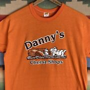Vintage 80s Dannyand039s Cheese Shop Mouse Saw Mill River Club T-shirt   Size Large
