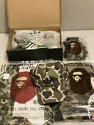 Adidas Originals Nmd_r1 Bape Outfit Sneakers Men Us9.5 With Adidas Jacket And More