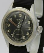 -ww2 Military Buren Wristwatch.british Army Issued.www .h 8505.15 Jewels.12and039and039and039.