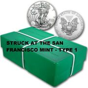 2021 S Silver Eagle Emergency San Francisco T-1 Sealed 500 Coin Monster Box