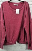 Free People 213 Oversize T-shirt. Sweet Myrtle Purple. Large New