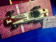 Indianapolis Indy 500 Aj Foyt Hand Signed Carousel 1 1/18 Four Winning Cars New