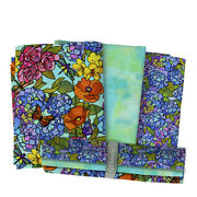 Stained Glass 3 Yard Bundle Sold As 1 Group.-3 -1 Yard Coordinated Fabrics By
