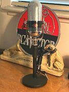 Vintage 1960and039s Calrad 500c Pill Microphone And Stand - Upgraded Capsule/cable