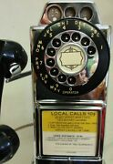 Automatic Electric Chrome Pay Telephone 1950and039s Fully Restored 1