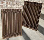 A+ Pair Kenwood Kl-777 D Speaker Grille Covers Excellent 25.5 X 16