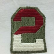 Vintage Military Patch Second Army Infantry Green Back No Glow Variant 2nd
