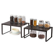 2 X Expandable Stackable Kitchen Cabinet Counter Shelf Organizer Pantry Bathroom