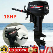2 Stroke 18hp Outboard Motor Engine Fishing Boat 246cc Cdi Water Cooling System