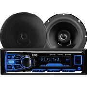 Boss Audio Systems 638bck Bluetooth Dm Receiver Bundle Car Stereo Pack Black