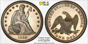 1859 1 Seated Liberty Dollar Pcgs Pr 60 Proof Low Mintage Type Coin Tough