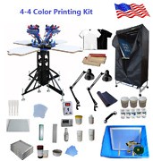 Brand New 4 Color 4 Station Screen Printing Kit For New Hand To Learn And Apply
