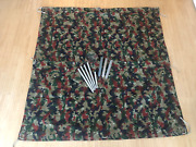 Swiss Army Zelteinheit 1964 Tarp Tent Shelter Half With Poles + Pegs In Bag 1
