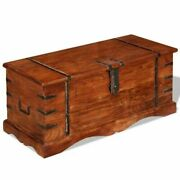 Chest Storage Trunk Wood Lockable Coffee Table Cabinet Books Shoes Toy Organizer