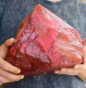 Natural 11.800 Kg Egl Certified Africa Red Ruby Uncut Rough Gemstone Top Quality
