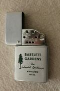 Vintage Brown And Bigelow Wind Master Chrome-green Advertising Lighter-serviced
