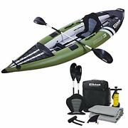 Elkton Outdoors Steelhead Inflatable Fishing Kayak - One-person Angler Blow Up K