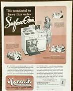1948 Monarch Model F57p Electric Roaster Range Print Ad Extra Surface Oven