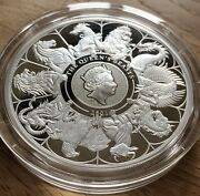 2021 5 Oz Silver Proof Queens Beasts Completer Royal Mint Andpound10 Low Mintage