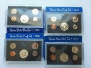 Lot Of 4 United States Proof Sets 1968 1969 1970 1971
