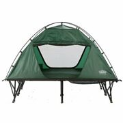 2-person Tent Elevated Dome Cot Foldable With Air Mattress Sleeping Bag Camping