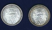 Germany 1967-f 5 Mark Silver Coins Brilliant Proof And Uncirculated Lot Of 2
