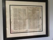 Early Lancaster Pa Newspaper-1788-franklin College-amazing