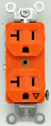 Lot Of 15 Hubbell Isolated Ground Duplex Receptacle Outlet 20a 125v - Orange