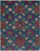 Hand-knotted 9and0393 X 11and0399 Shalimar Casual Contemporary Transitional Wool Rug