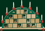 Candle Arches Advent Calendar Electric Illuminated Arch Erzgebirge Seiffen New