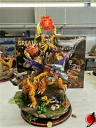 Digimon Adventure Agumon Model Painted Statue Resin Anime Collection In Stock