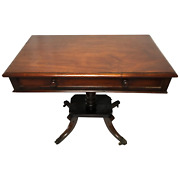1 Antique Regency 19th Century Circa 1820 Irish Campaign Side Table With Drawer