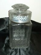 Koezes Vtg Apothecary Jar Wedding Candy Cookie Canister Lid Seal Glass 9-1/4