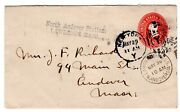 North Andover Station Lawrence Ma Straight-line 1903 On Postal Entire
