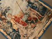 Antique Tapestry Weaving Wall Hanging Rug Textile Flemish France Europe
