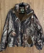 Whitewater Outdoors Warm Hunting Jacket L Real Tree Hardwoods 20-200 Hood Zip