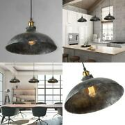 Farmhouse 14 In. 1-light Dome Shade Industrial Barn Light Pendant With Antique B