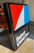 Vintage Outdoor Lighted Sign 5and039x6and039 - American Motors Used Cars Amc Dearlership