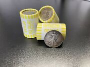 Unsearched Half Dollar Coin Roll With Bonus 90 Silver Walking Liberty Coin