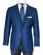 Kiton Jacket In Dark Blue With Patch Pockets From Cashmere/regeur5490