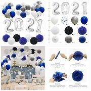 Graduation Decorations 2021 Party Balloons, New Years Eve Supplies, Hanging Tiss