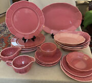 Ws George Georgette Rose Pink Petalware Dishes Plates Bowls Cups 1940and039s Usa