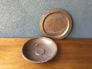 2 1938 Hull House Chicago Copper Bowl Tray Vintage Deco Arts And Crafts Era