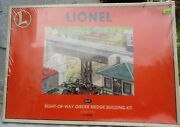 Lionel O Scale 6-12968 Right Of Way Girder Bridge Building Kit Sealed Ob.