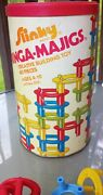 Vintage Slinky Ringa-majigs Creative Building Toy Near Complete In Tin