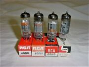 4 6gn8 Rca / Lindel Vacuum Tube Lot, Nos, New In The Box Tested Thumbs Up