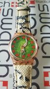 Swatch First Gp108 1994 Standard Gents 34mm Leather Vintage Eve